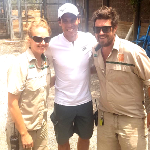 A day at Werribee Zoo for Mark & Quinny and Rafael Nadal