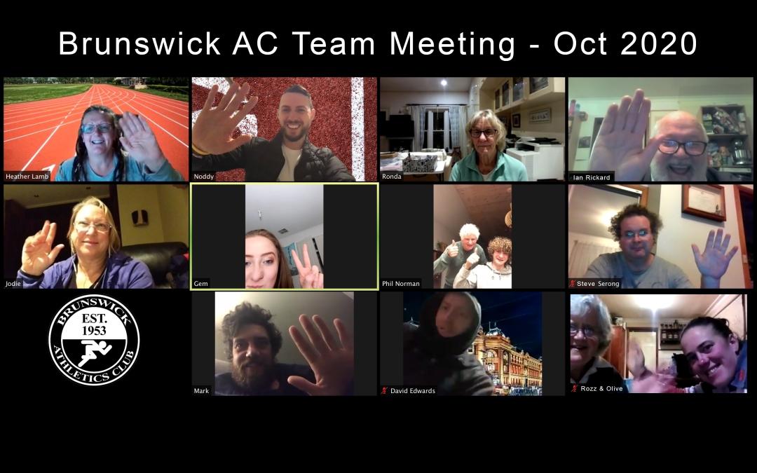 Brunswick Athletics Club ZOOM meeting